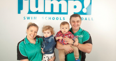 Kat Hughes and James Rice JUMP Swim Schools Franchisees