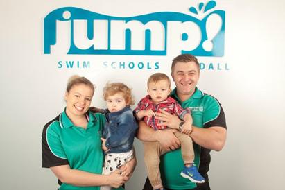 Kat Hughes and James Rice JUMP Swim Schools Franchisees